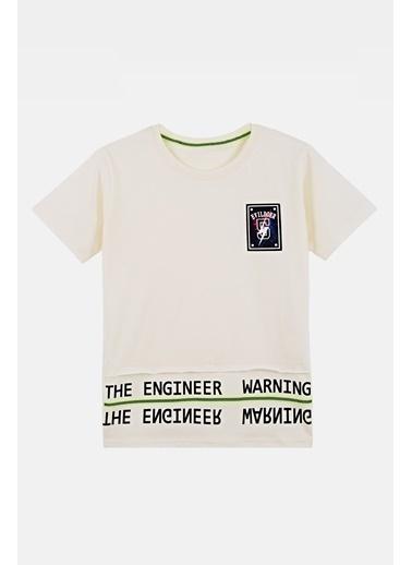 Lela Lela Bisiklet Yaka Erkek Çocuk T Shirt 08328 Ekru